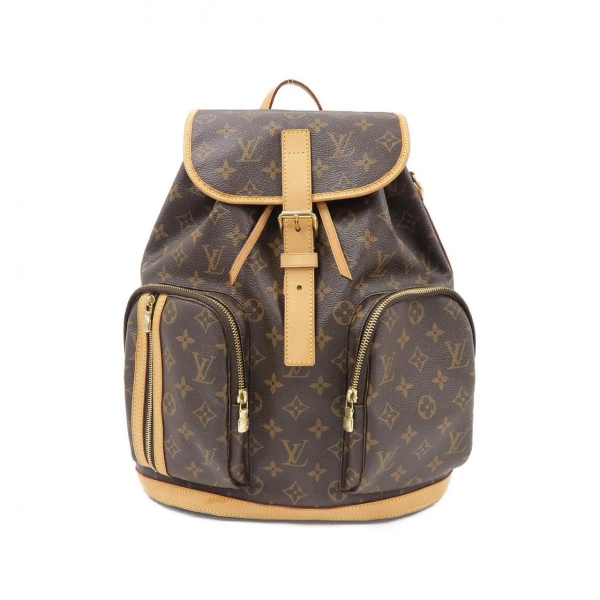 Louis Vuitton - Sac a dos Bosphore Backpack pour femme en toile - marron