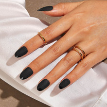 24 Stuecke Solid Matte Panel Fake Nails