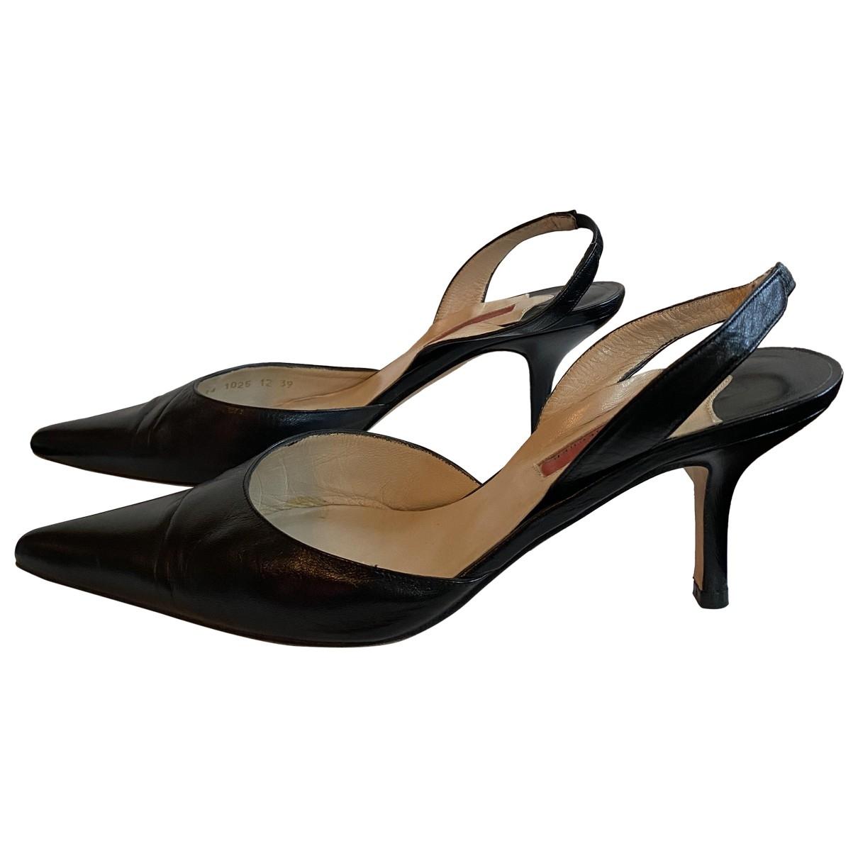 Carolina Herrera \N Black Leather Heels for Women 39 EU