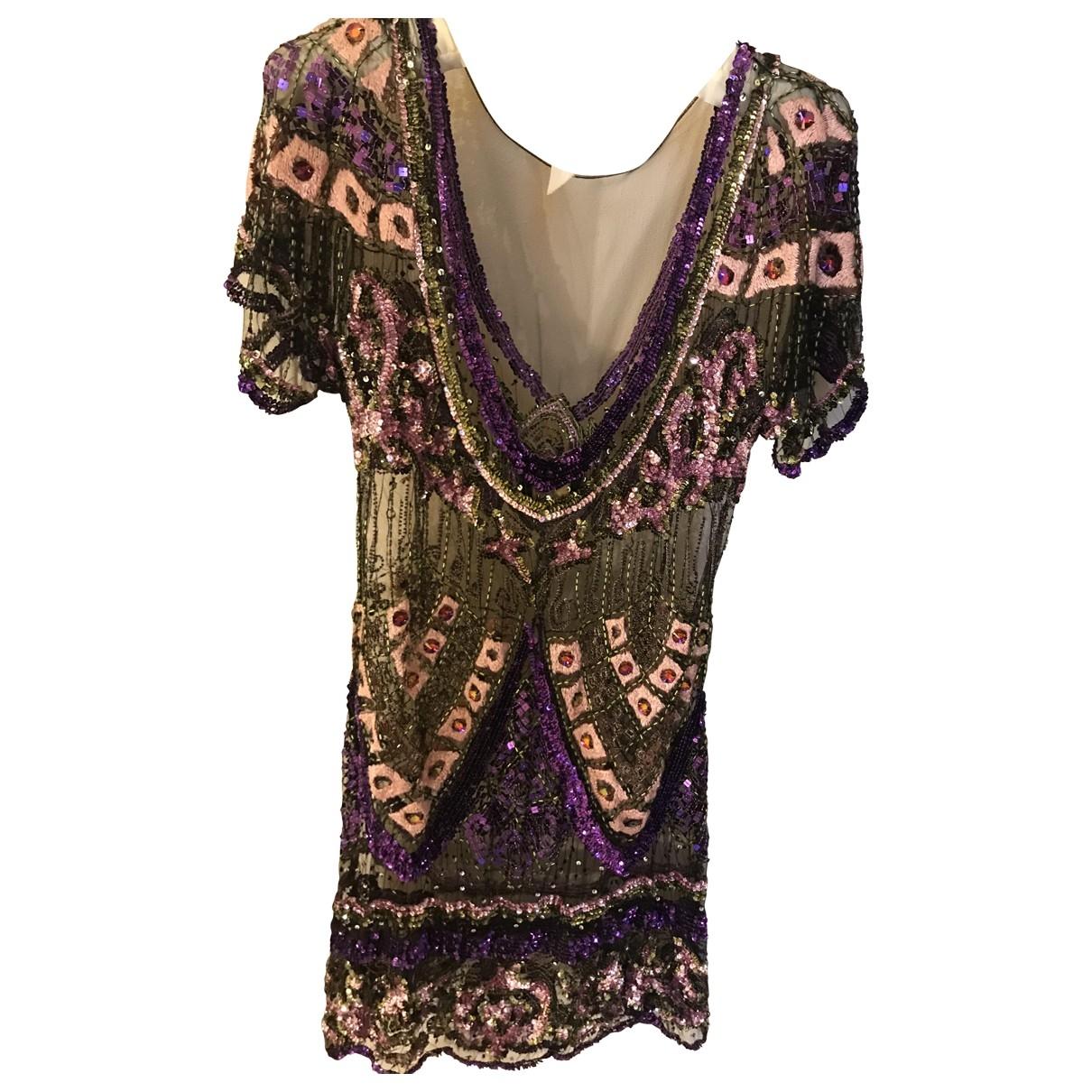 Just Cavalli \N Kleid in  Bunt Mit Pailletten