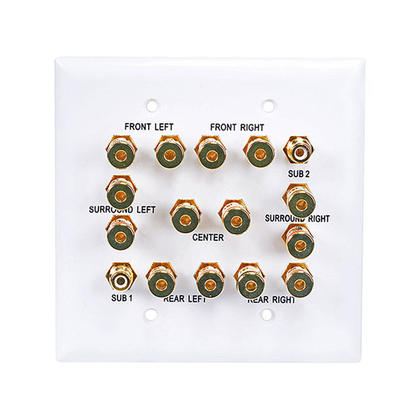 2-Gang 7.2 Surround Sound Distribution Wall Plate - Monoprice®