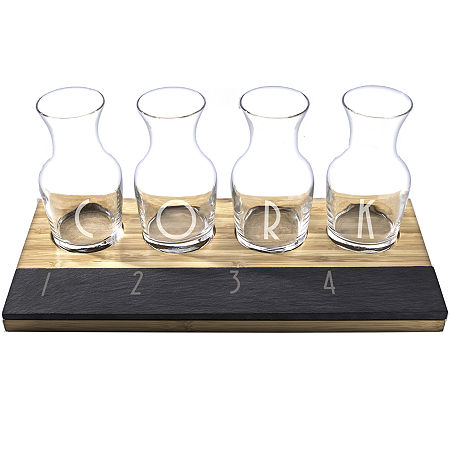 Cathy's Concepts Personalized Wine Tasting Flight, One Size , Brown