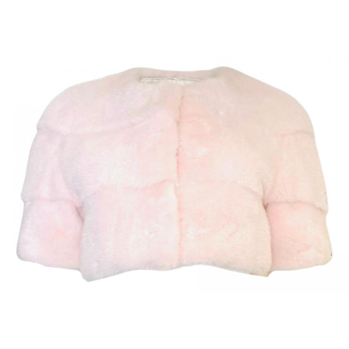 Lilly E Violetta N Pink Mink jacket for Women 36 IT