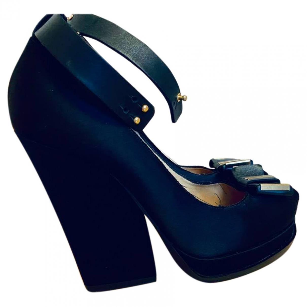 Lanvin - Escarpins   pour femme en cuir - noir