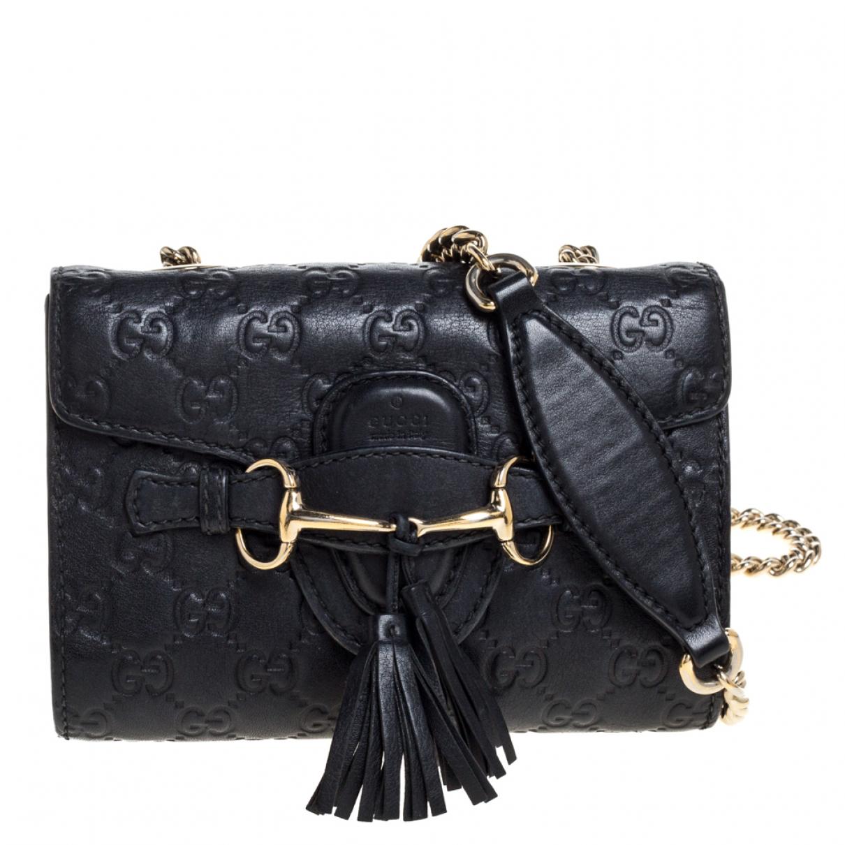 Gucci Emily Handtasche in  Schwarz Leder