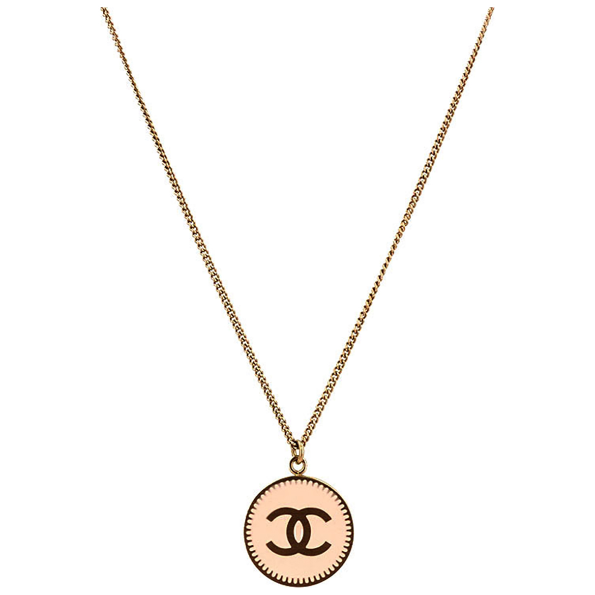 Chanel CC Halskette in  Rosa Metall
