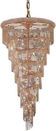 V1801SR36G/SA 1801 Spiral Collection Chandelier D:36In H:65In Lt:26 Gold Finish (Spectra   Swarovski