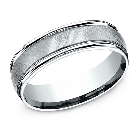 6MM 10K White Gold Wedding Band, 11 , No Color Family