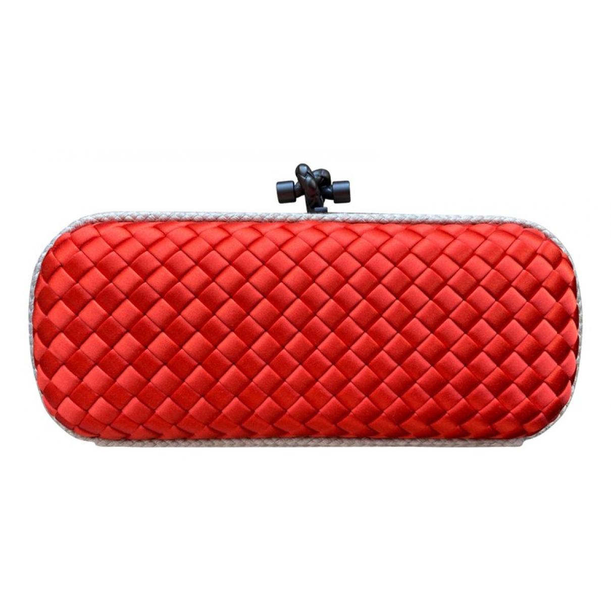 Bottega Veneta - Pochette Pochette Knot pour femme en soie - rouge