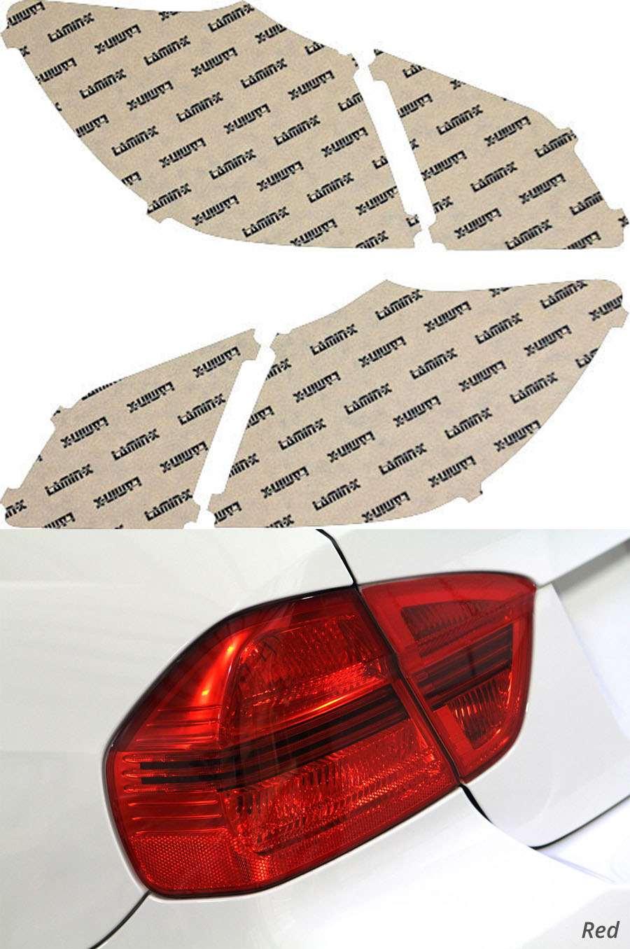 Hyundai Genesis Sedan 09-11 Red Tail Light Covers Lamin-X HY212R