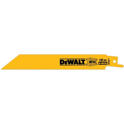 DeWalt 6-in 18 TPI Metal Cutting Reciprocating Blade