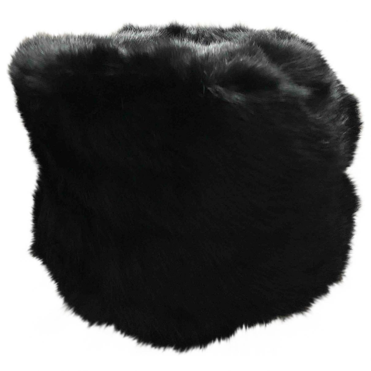Non Signé / Unsigned \N Black Rabbit hat for Women S International