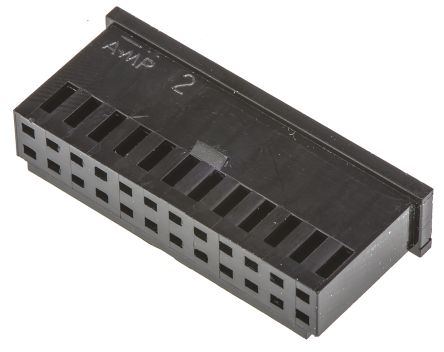 TE Connectivity , AMPMODU MOD II Female Connector Housing, 2.54mm Pitch, 24 Way, 2 Row (10)