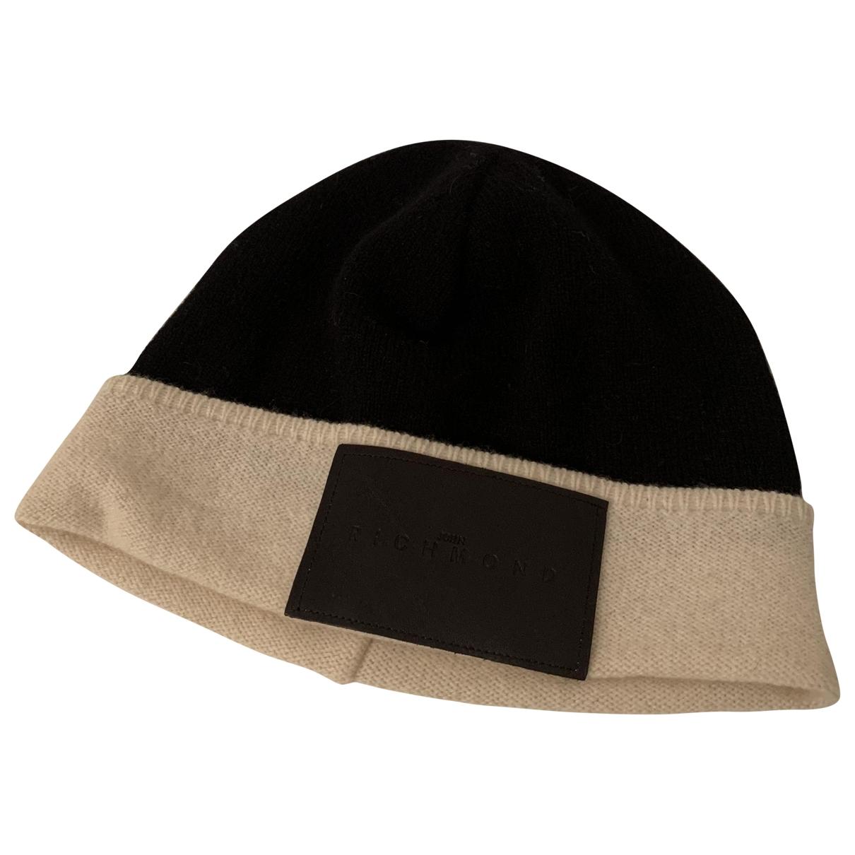 John Richmond - Chapeau & Bonnets   pour homme en laine - noir