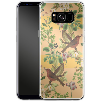 Samsung Galaxy S8 Silikon Handyhuelle - Vintage Botanic von Zala Farah
