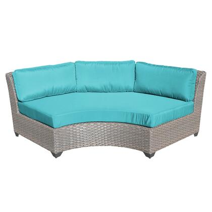 TKC055b-CAS-ARUBA Florence Curved Armless Sofa with 2 Covers: Grey and