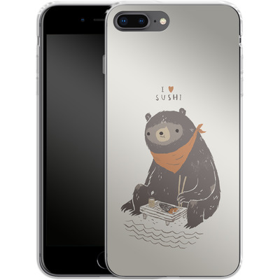 Apple iPhone 8 Plus Silikon Handyhuelle - Sushi Bear von Louis Ros