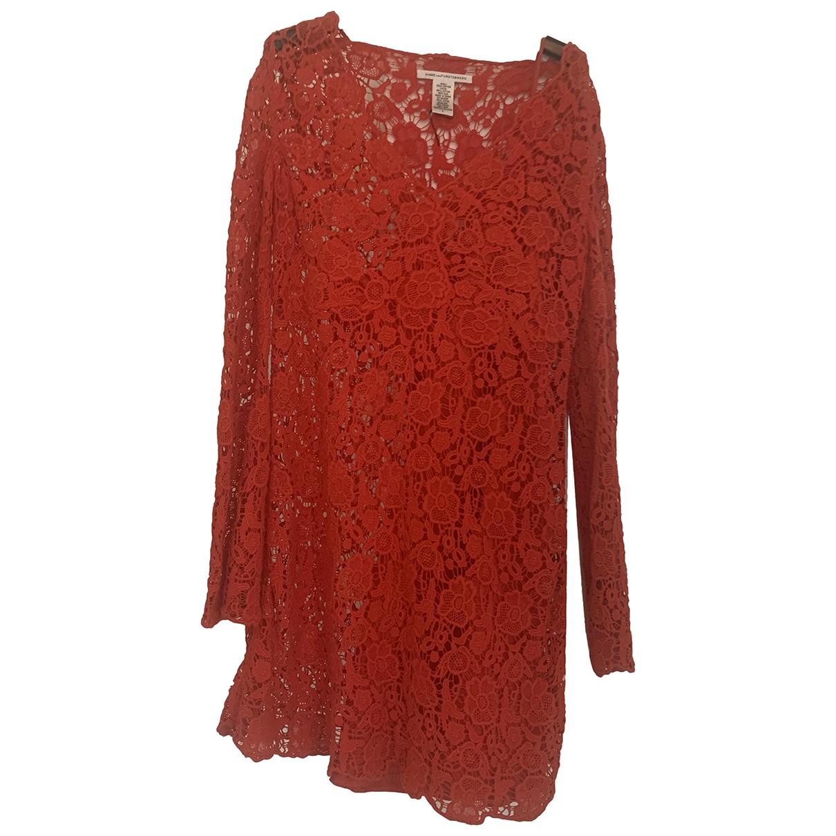 Diane Von Furstenberg - Robe   pour femme en coton - rouge