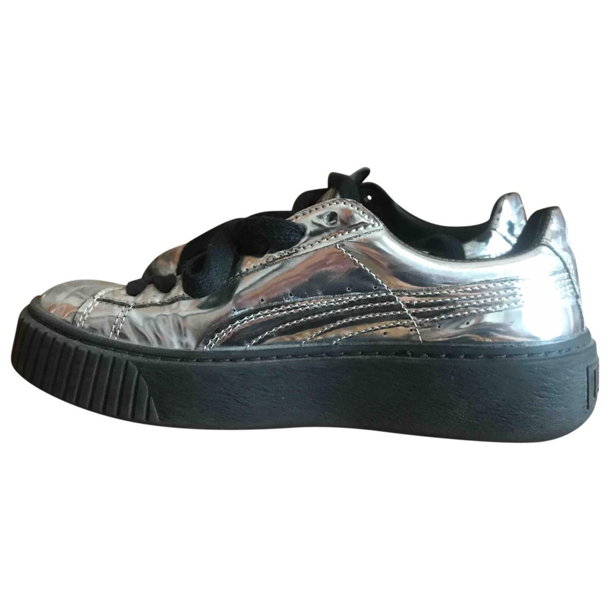 Puma \N Sneakers in  Silber Leder