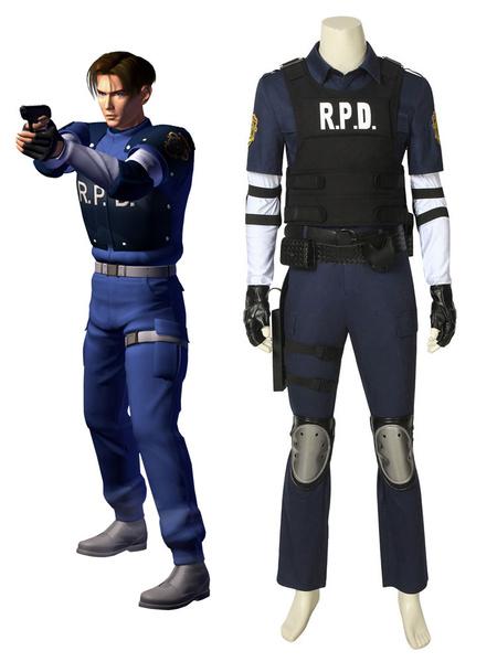 Milanoo Resident Evil 2 Leon Scott Kennedy Halloween Cosplay Costume