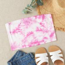 Tie Dye Crop Tube Top