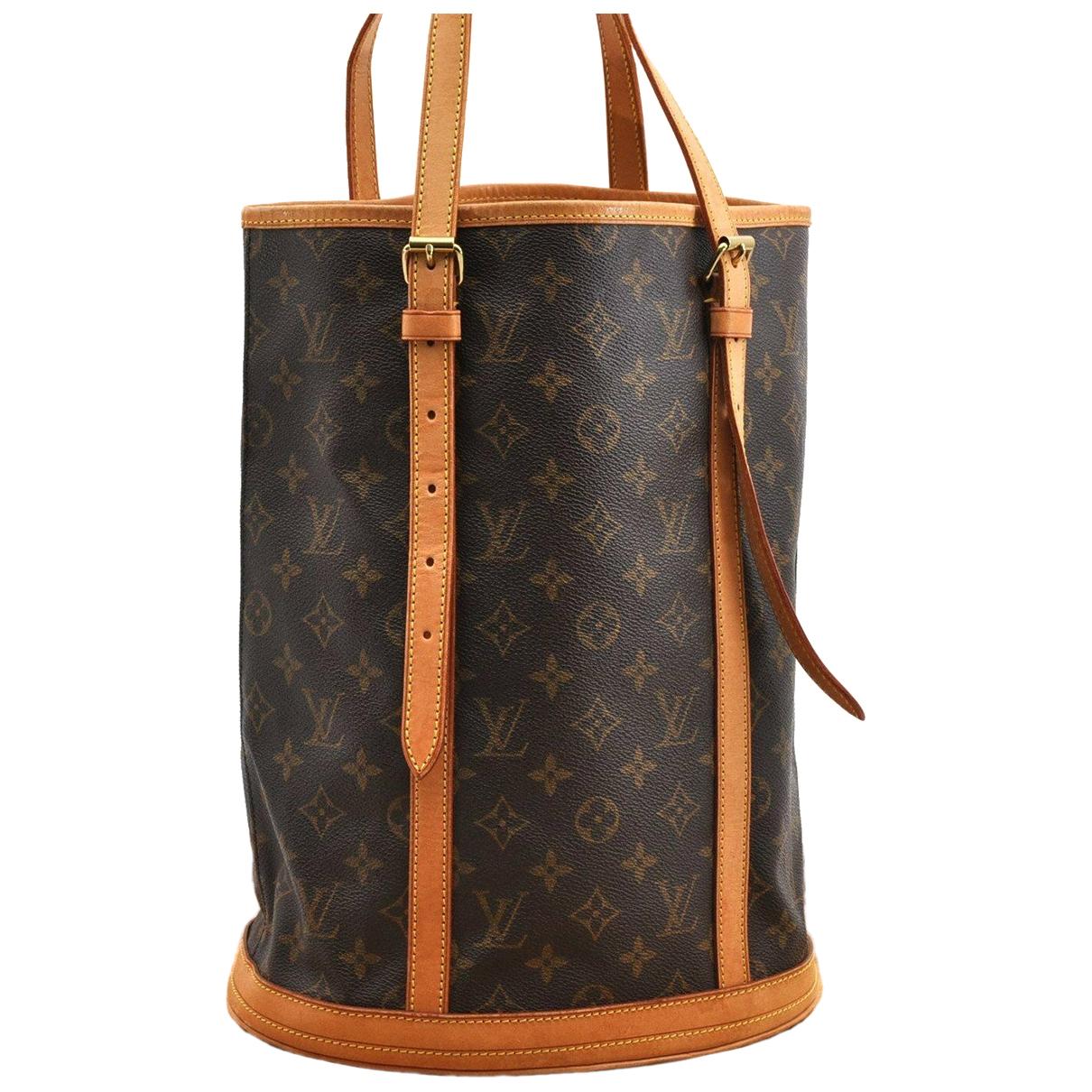 Louis Vuitton Bucket  Brown Cloth handbag for Women N