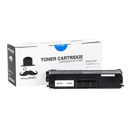 Brother TN315C cartouche de toner compatible cyan haute capacité - Moustache®