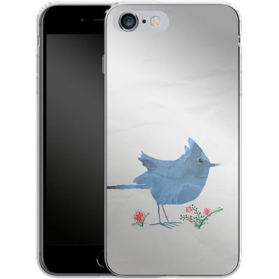 Apple iPhone 6 Plus Silikon Handyhuelle - Watercolour Bird White von caseable Designs