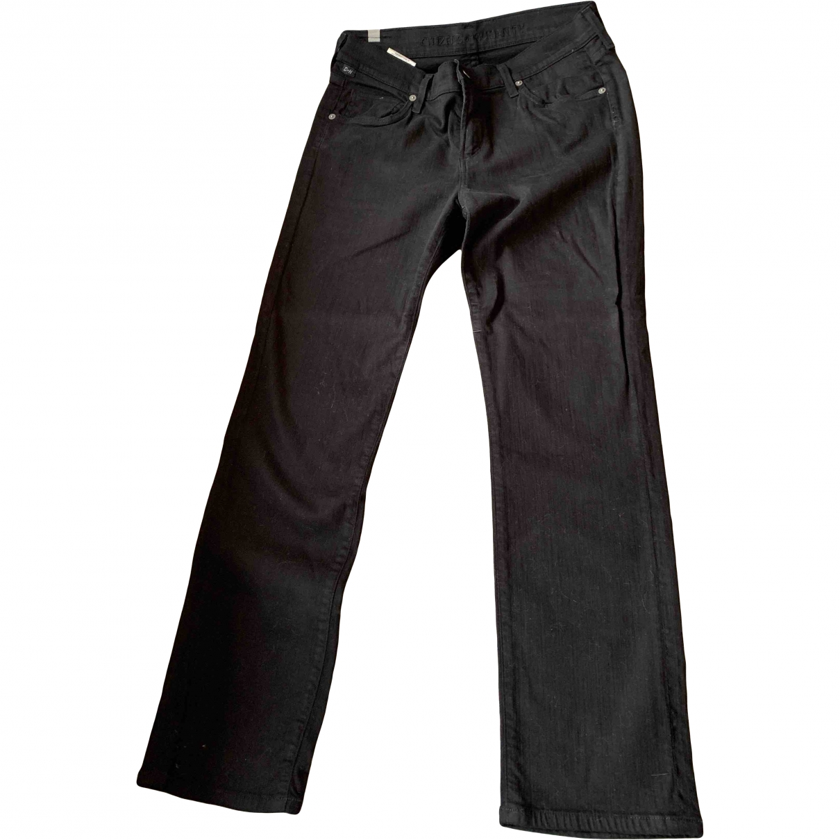 Citizens Of Humanity \N Black Cotton - elasthane Jeans for Women 28 US