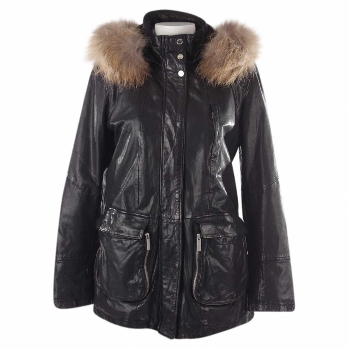 Oakwood \N Black Leather jacket for Women S International
