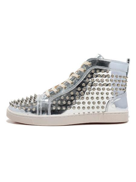 Milanoo Zapatos de piel de carnero con tachuelas