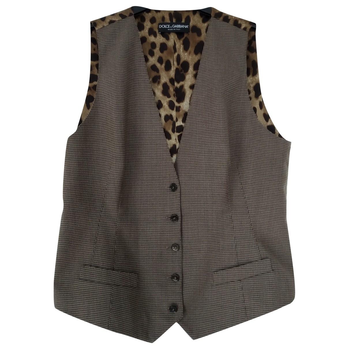 Dolce & Gabbana \N Brown Wool jacket for Women 48 IT