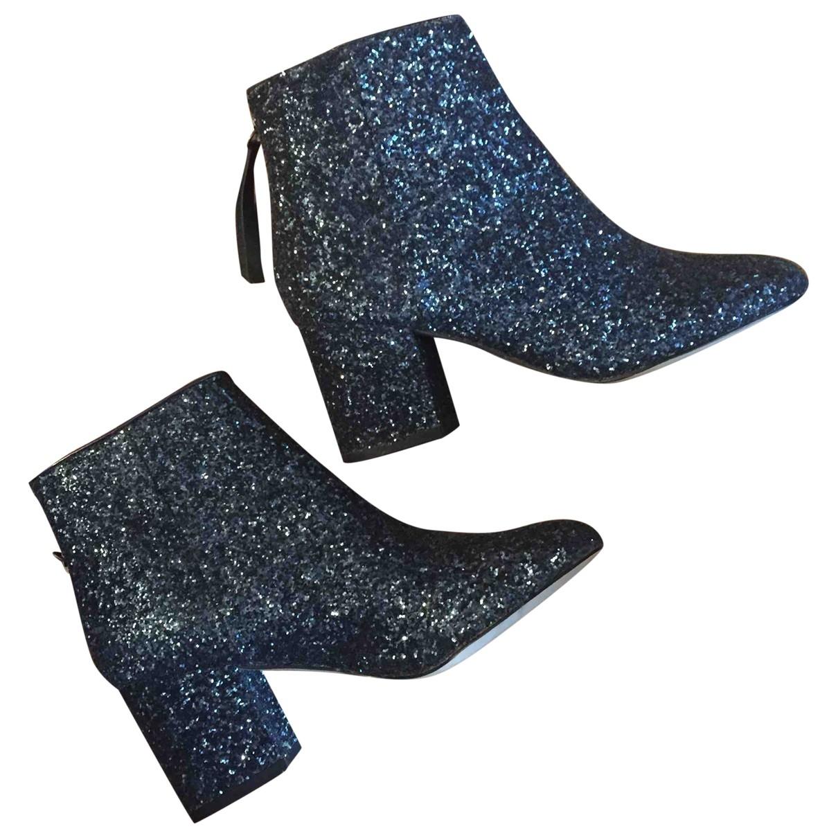 Asos \N Navy Glitter Boots for Women 5 UK
