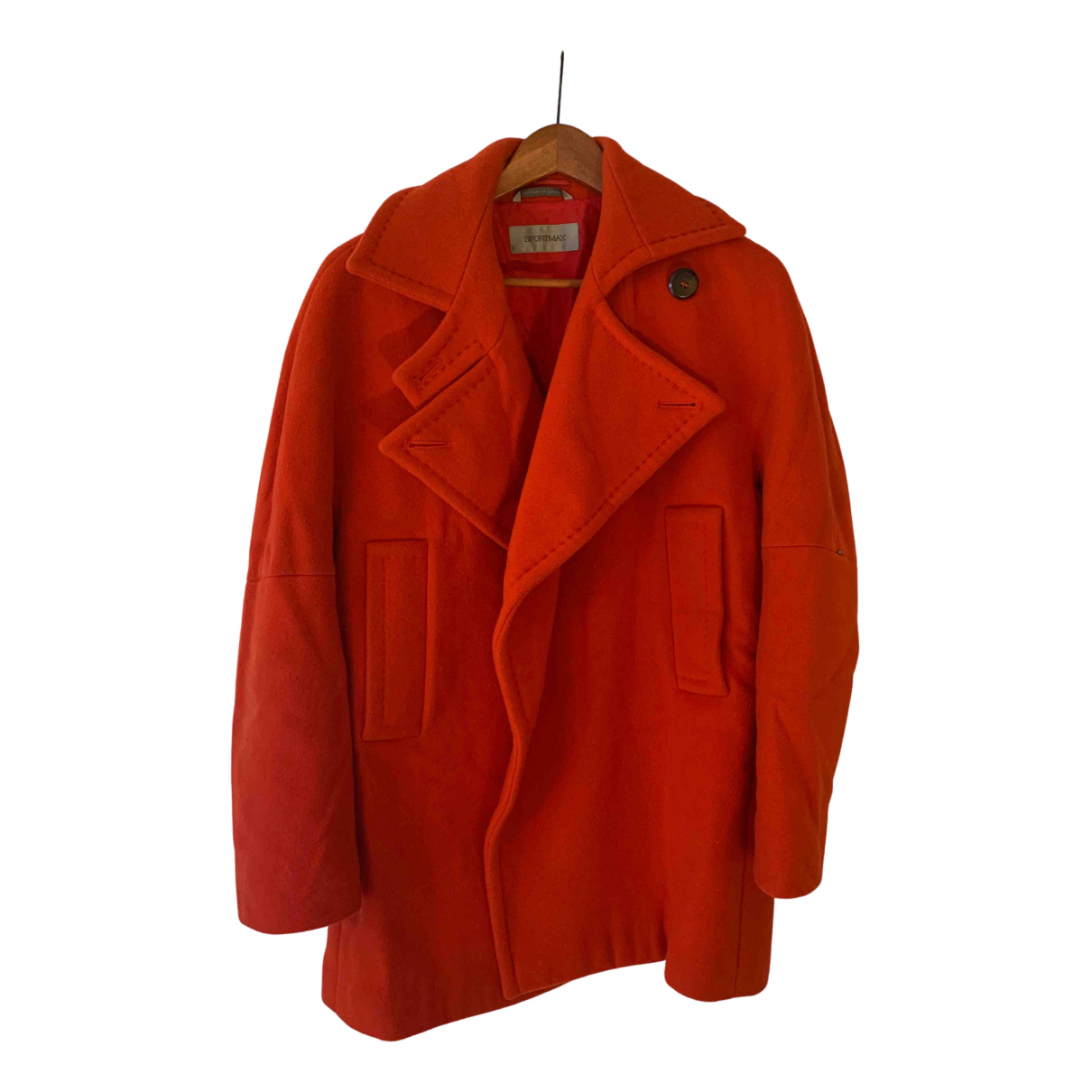 Sport Max N Red Wool coat for Women 8 UK