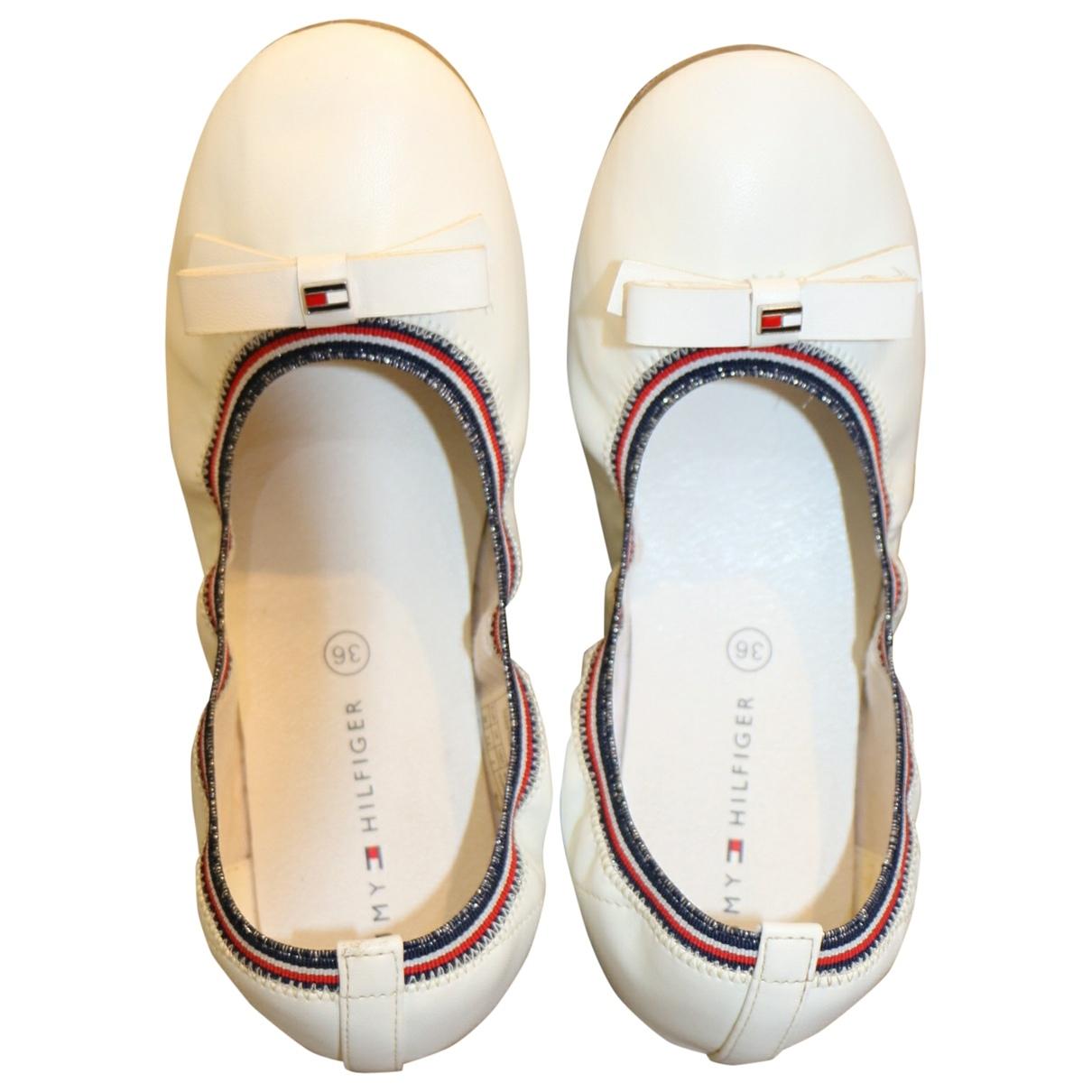 Tommy Hilfiger - Ballerines   pour enfant en cuir - blanc