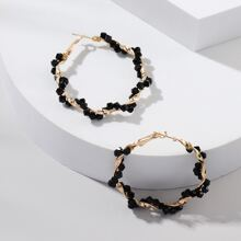 Kreolen mit Perlen Dekor
