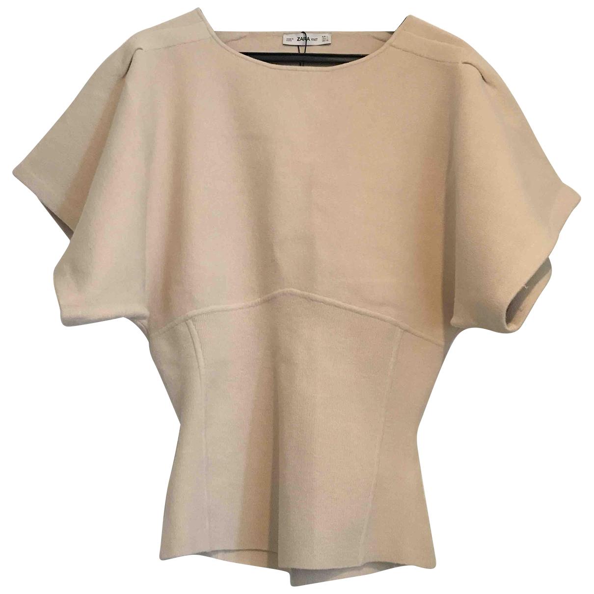 Zara - Pull   pour femme - ecru