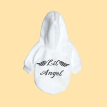 Letter Graphic Dog Hoodie