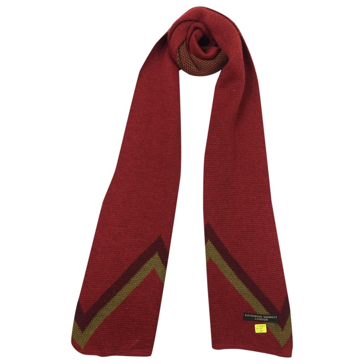 Katharine Hamnett \N Schal in  Rot Wolle