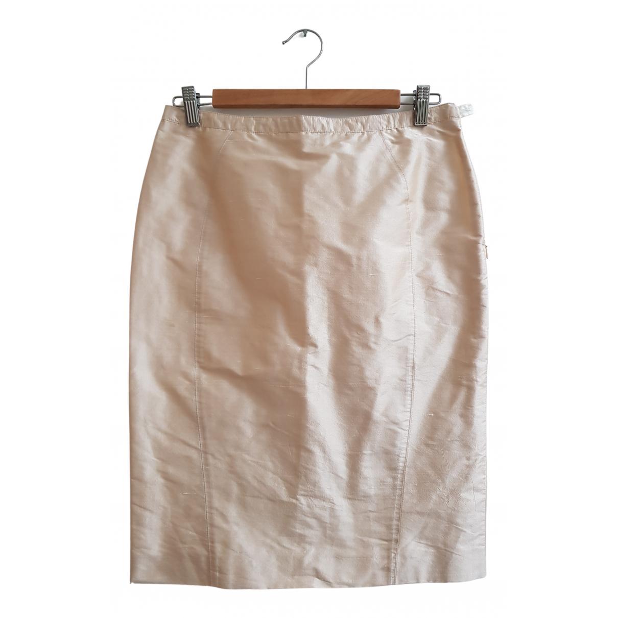 Armani Collezioni N Beige Silk skirt for Women 40 IT
