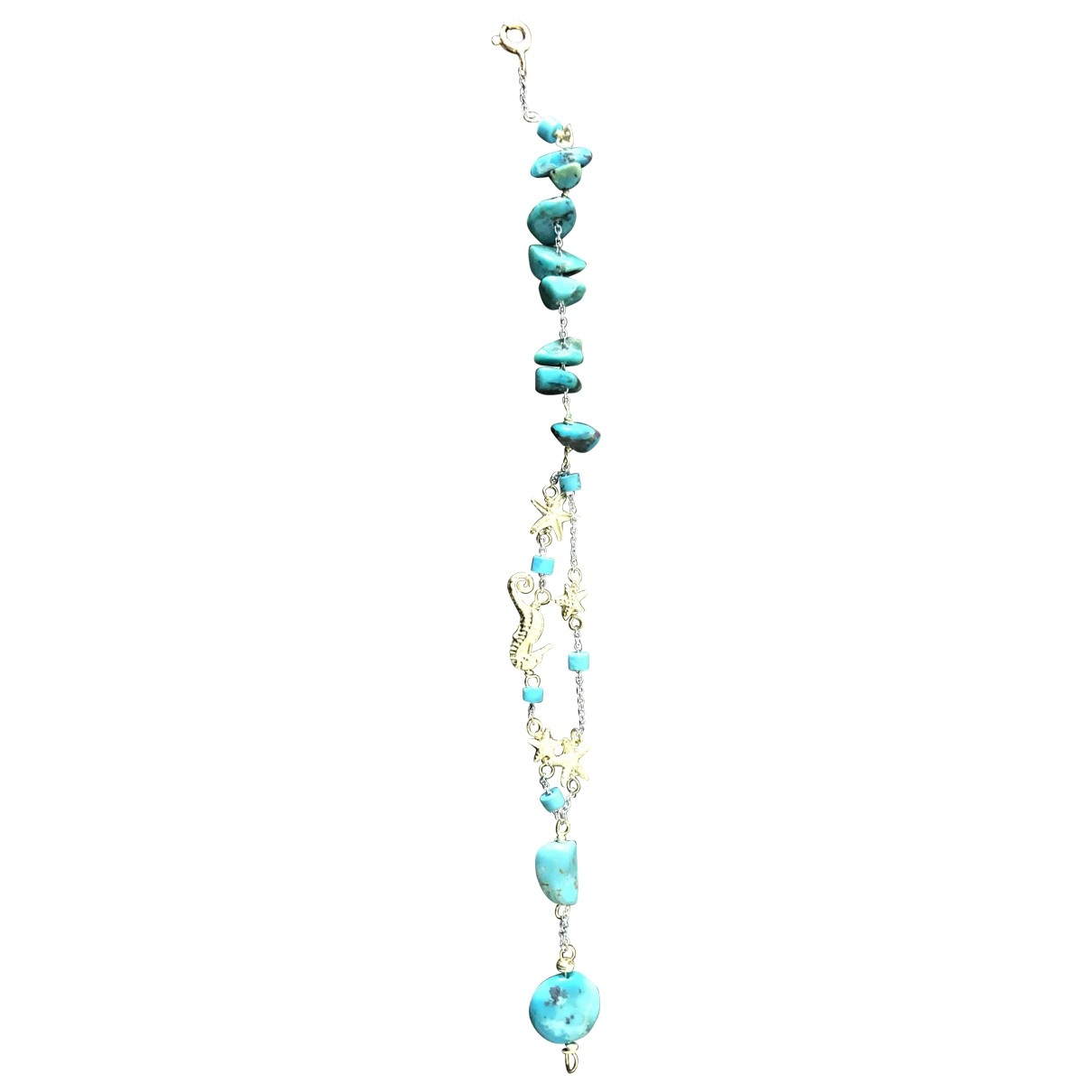 Non Signé / Unsigned Turquoises Turquoise White gold bracelet for Women \N