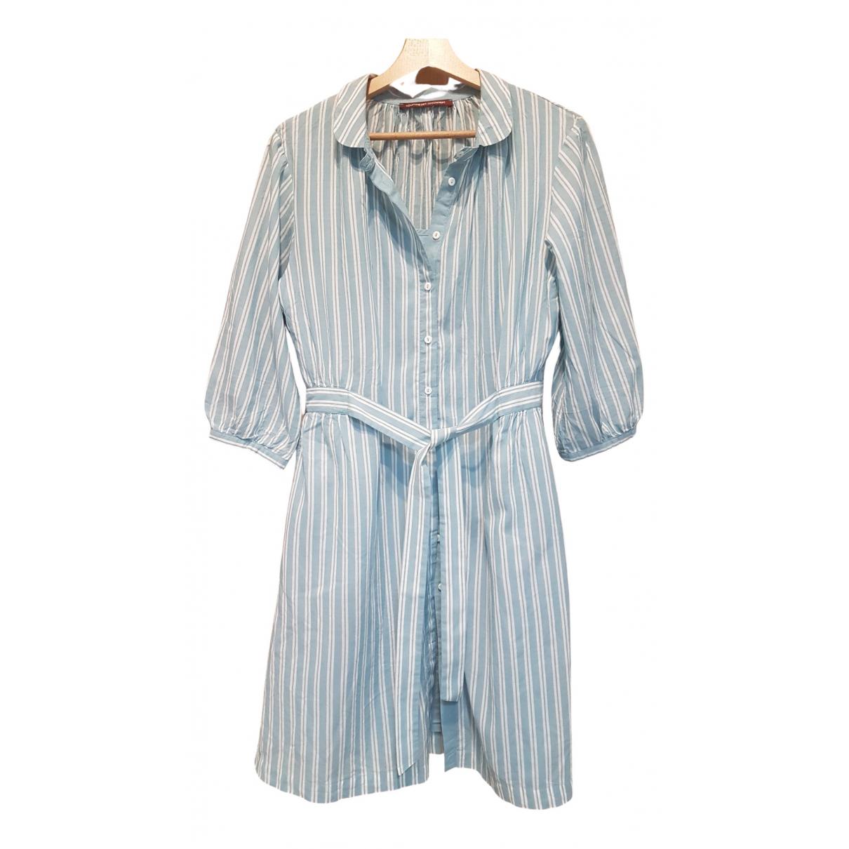 Comptoir Des Cotonniers \N Blue Cotton dress for Women 36 FR