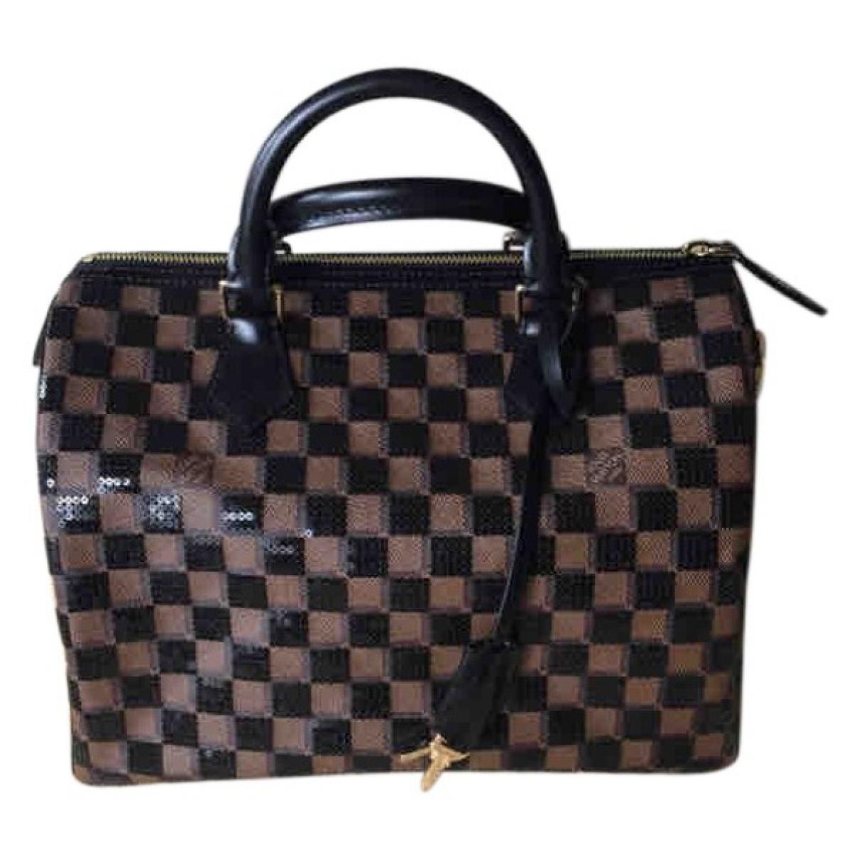Louis Vuitton Speedy Brown Glitter handbag for Women \N