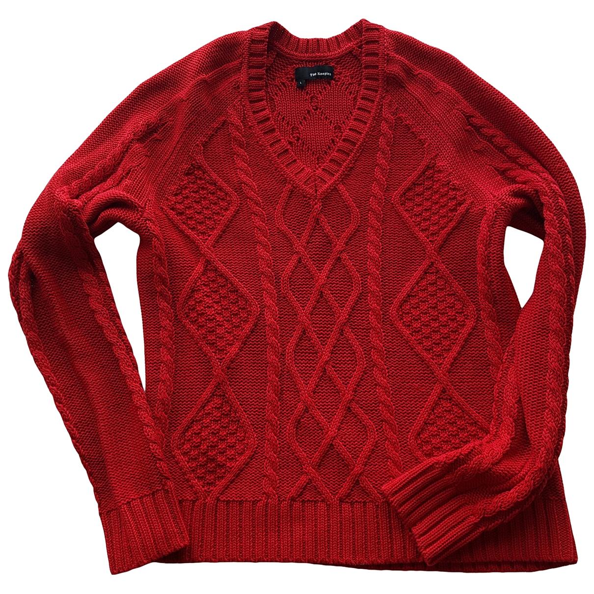 The Kooples \N Pullover.Westen.Sweatshirts  in  Rot Baumwolle