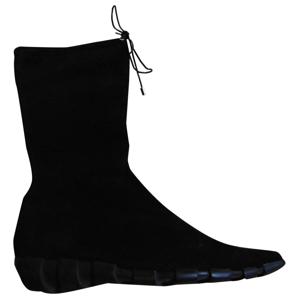 Karl Lagerfeld - Bottes   pour femme en suede - noir