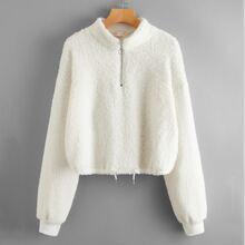 Half zip Crop Sweatshirt