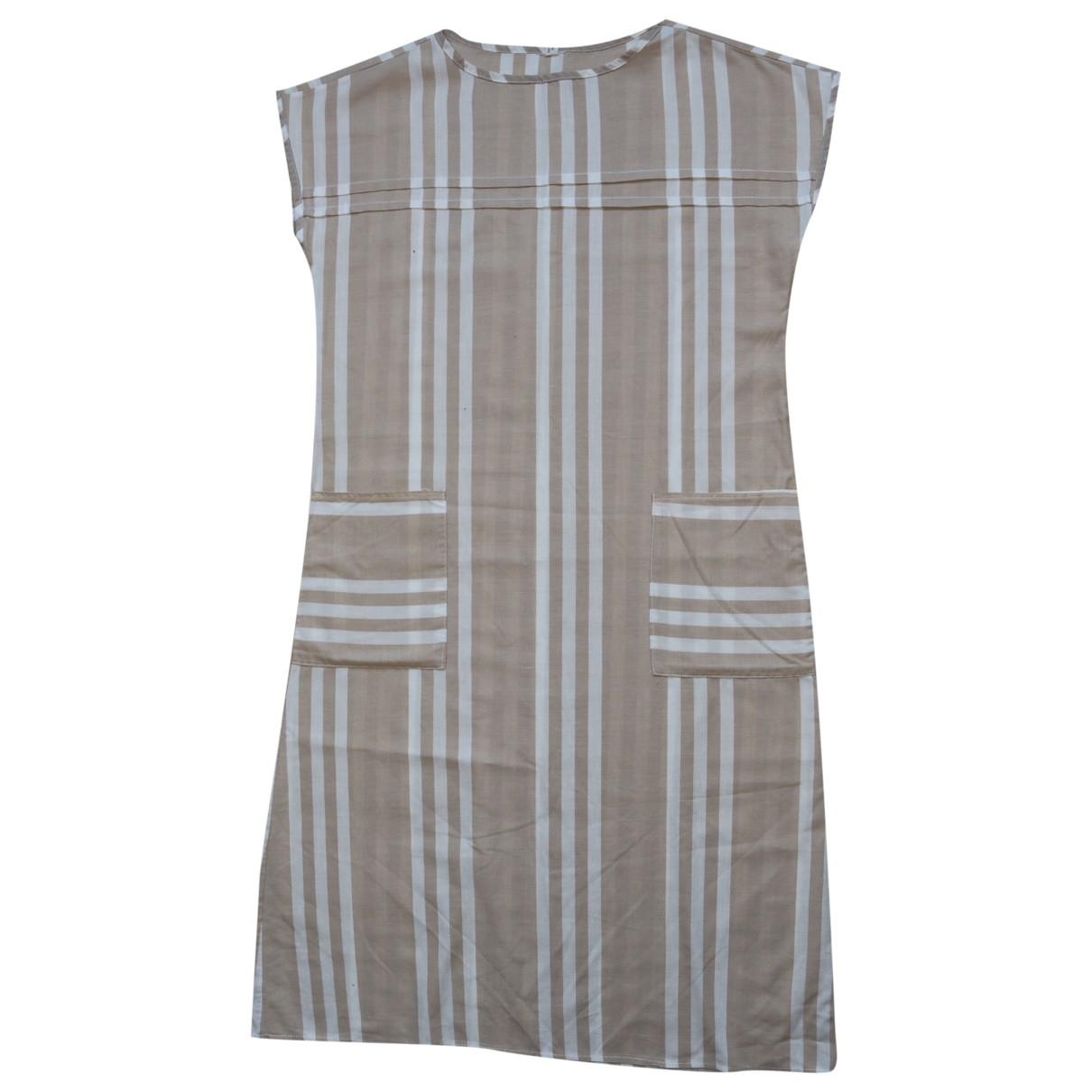 - Robe Oversize pour femme en coton - beige
