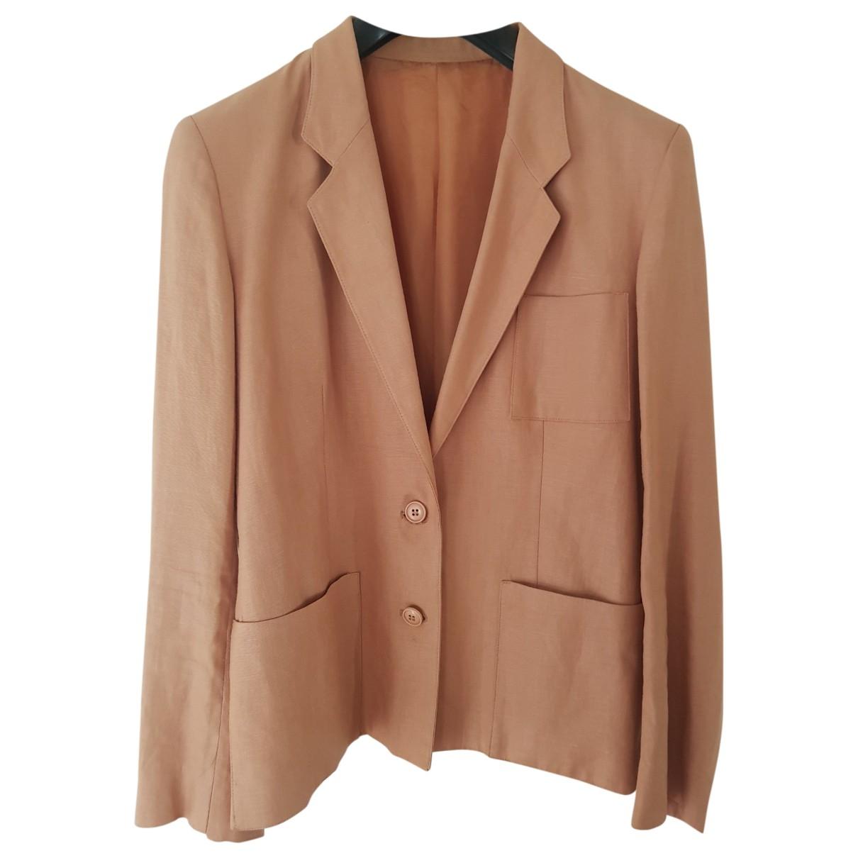 Non Signé / Unsigned \N Ecru Linen jacket for Women 46 IT
