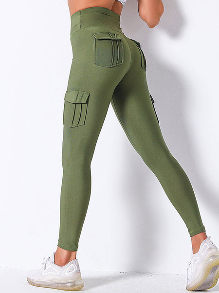 Milanoo Women\'s Clothing Yoga Pants Polyester Black Yoga Leggings