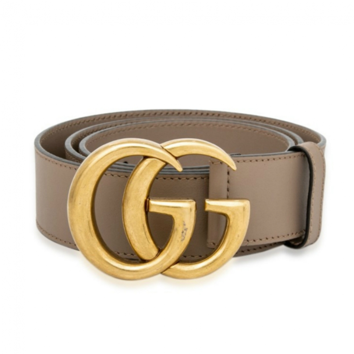 Gucci GG Buckle Leather belt for Women 85 cm